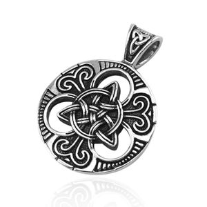 Anhänger Keltischer Knoten Triquetra Edelstahl Halskette Lederkette Herren Damen Dreiecksknoten Celtic nur-anhänger