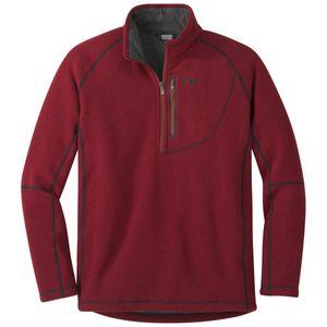 Outdoor Research Fleecepullover Men's Vashon Fleece Qtr-Zip firebrick M