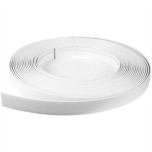 """Blende (5 EUR/ 1m) für Gardinenschiene 500cm in Farbe """"Weiß"""", Kunststoffblende für Vorhangschiene mit Innenlauf, zum aufschieben auf Innenlaufschienen"""