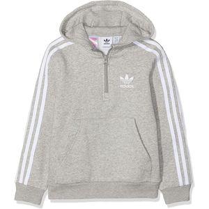 Adidas Originals Kapuzenpullover Halfzip Hoodie In Grau für Kinder Größe 152 DV2885
