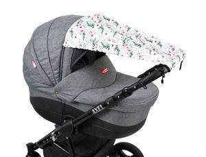 BABYLUX Sonnenschutz SONNENSEGEL für Kinderwagen Buggy UV Schutz 73. Blumen