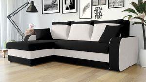 Mirjan24 Ecksofa Kris, Stilvoll Eckcouch mit Bettkasten und Schlaffunktion, L-Form Couch, Schlafsofa (Mikrofaza 0015 + Mikrofaza 0031)