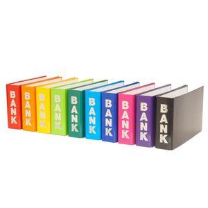 10 Bankordner / 140x250mm / für Kontoauszüge / 10 verschiedene Farben