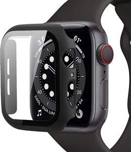 Hülle für Apple Watch Series 6 / 5 / 4 / SE 44mm Schutzhülle Case Display Schutz 360° TPU Case iWatch Cover Schwarz