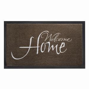 Siena Garden 555-1441517 Fußmatte PEVA 45x75cm ta. WELCOME HOME, braun (1 Stück)
