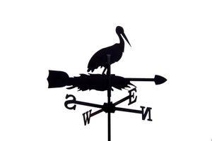 SvenskaV Wetterfahne Storch klein in schwarz