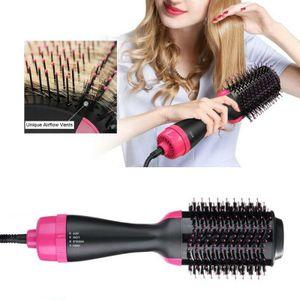 3 in 1 Haartrockner und Volumenstyler Heiße Haarbürste Glättender Haarkamm Warmluftbürste Föhnbürste Fönbürste