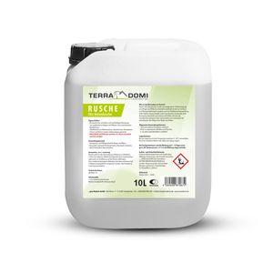 TerraDomi Rusche die Steindusche, 10 L, Steinreiniger für bis zu 4000 m², Reinigungsmittel für saubere Wege & Plätze, Wegerein, biologisch