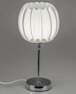 Formano Tischlampe Kugel 40 cm silber - weiß Leuchte Deko