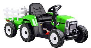 COIL Traktor mit Anhänger mit Funktionen Licht und Sound,Fahrzeug Akku grün