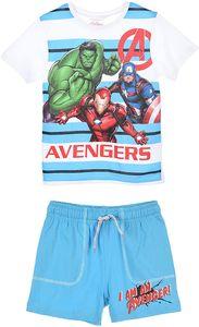 Avengers Catain America Hulk Ironman Jungen Sommer-Set T-Shirt und Short kurze Hose, Größe:116