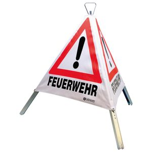 Dönges Faltsignal Warnpyramide Kennzeichnung, Tagesleuchtfarbe, 3.301g