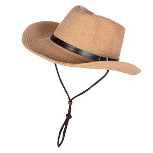100% Weizenstroh Sonnenhut Anti UV Sommerkrempen Mit Großer Krempe Im Sommer In Panama Fedora Farbe Khaki