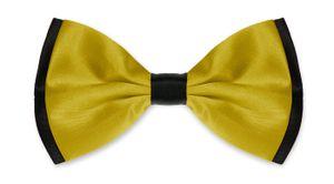 Fliege Herren Hochzeit Konfirmation Anzug Smoking Schleife Schlips zweifarbig gold-schwarz