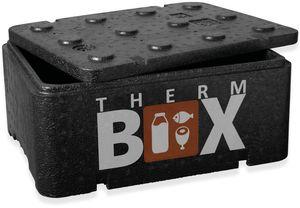 Profibox 12BL - Innen: 36x26x13cm Wand: 1,8cm ca. 12 Liter Größe S Styroporboxen Isolierbox Thermobox Warmhaltebox Kühlbox Thermobehälter