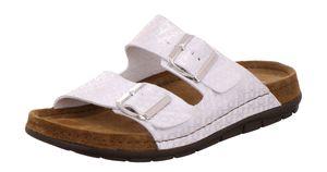 Rohde 5862 Rodigo Damen Schuhe Pantoletten Clogs, Größe:40 EU, Farbe:Silber