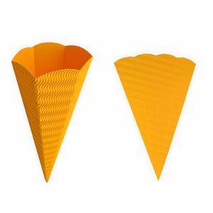 Creleo - Geschwister Schultüte 1 Stück gelb aus 3D Wellpappe 41cm - Zuckertüte als Rohling zum basteln, bemalen und bekleben