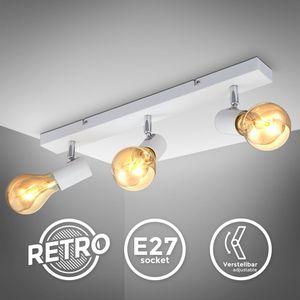 Vintage Deckenleuchte I Retro Deckenlampe I 3-flammig I E27 I Landhausstil I Deckenstrahler I schwenkbar I ohne Leuchtmittel