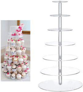7-Stufig Tortenständer Cupcake Ständer Muffinständer Kuchenständer für Party Baby Duschen Hochzeiten