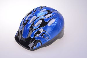 Fahrrad Kinderhelm Fahrradhelm Sturzhelm Schutzhelm Helm Kinder 52-56, Farbe:Blau