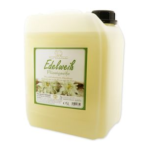 Florex Schafmilchseife Edelweiß 5 L Flüssigseife Kanister Seife Nachfüllflasche Schafmilch Naturseife