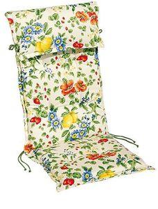 BEST Niederlehnerauflage Trend l Sesselauflage 100x50cm l Bunt