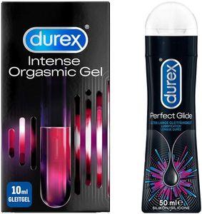 Durex Gleitgel 2er Premium-Set |10ml Intense Orgasmic Gel + 50ml Perfect Glide
