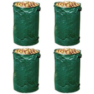 4er Set Laubsack Rasensack 120 Liter Gartensack Gartenabfallbehälter Abfall Sack für Gartenabfall Gartenabfallsack