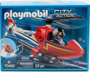 PLAYMOBIL 70492 Feuerwehrhubschrauber City Action Helicopter Feuerwehr Löschhubschrauber