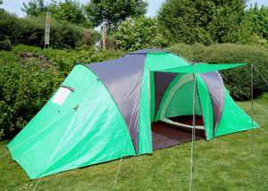 Campingzelt Loksa, 4-Mann Zelt Kuppelzelt Igluzelt Festival-Zelt, 4 Personen  grün
