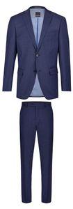 Daniel Hechter - Regular Fit - Herren Baukasten Anzug aus reiner Schurwolle in verschiedenen Farben, meliert (7994), Größe:60, Farbe:Blau (66)