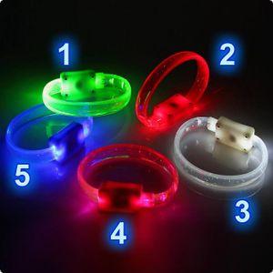 LED-Armband Glitter-Leuchtarmband für Kinder & Erwachsene Farbe - blau