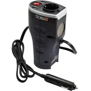 TECHNAXX  KFZ-Spannungswandler 12 V zu 230 V, Schuko-Anschluß, Überhitzungsschutz
