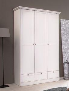 Kleiderschrank Landström 18 weiß 120x200x51cm Drehtürenschrank Schrank