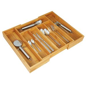 Besteckkasten Bambus Besteck Besteckaufbewahrung Schublade Schubladenkasten