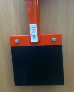 Kerbl Stoßscharre ohne Stiel, 15cm Blech mit 1mm / Stärke