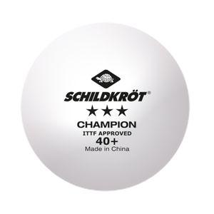 Donic-Schildkröt Tischtennisball 3-Stern Champion ITTF, Wettkampfball in Poly 40+ Qualität, 3 Stk. im Karton, weiß