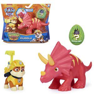 Dino Rescue Action Pack | Set mit Spielfigur und Dinosaurier | Paw Patrol, Figur:Rubble