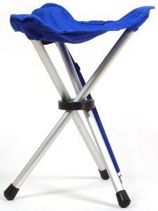Coghlans Dreibeinhocker blau Klapphocker Aluminium Trageriemen Angeln Zelten Camping Trekking Wandern Tour Outdoor