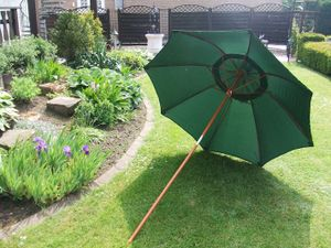 Gartenschirm aus Bambus-Holz - Farbe: Grün