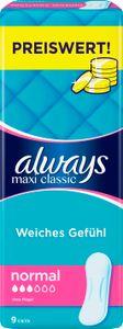Always Damenbinden Maxi Classic 9 Stück  getestet