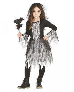 Trendiges Gothic Ghost Mädchen Kostüm für Halloween und Motto Parties Größe: L