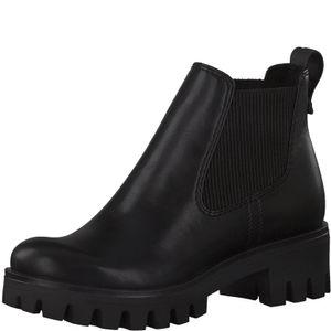 Tamaris Damen Stiefeletten Chelsea Boots schwarz 1-25424-25, Größe:39 EU, Farbe:Schwarz
