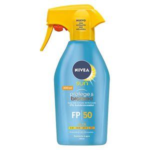 NIVEA - SUN PROTEGE & BRONCEA Zerstäuber SPF50 Sonnenschutzfaktor 50 300 ml