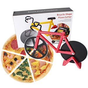 Miixia Rot Pizzaschneider Fahrrad Pizza Cutter rostfreier Stahl Antihaft-Beschichtung