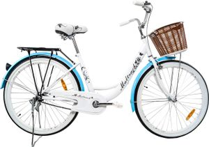PolBaby MalTrack Fahrrad Citybike Urban Blue Mare City Bike 26 Zoll