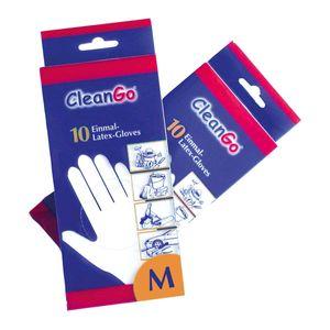 CleanGo 10 Latex-Einmalhandschuh, nicht steril, Gr. M