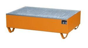 Bauer GmbH Auffangwanne lackiert mit Gitterrost 2018, lackiert orange RAL 2000