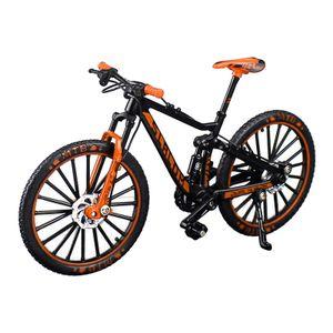 Mini Berg Fahrrad Modell Finger Bike Modell 1/10 3D Fahrzeug Modell Junge Spielzeug Schreibtisch DIY Handwerk Sammlung Orange 17,5 cm