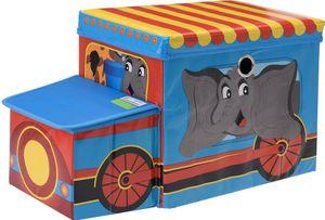 Spielzeug Kiste - Kinder Hocker Sitzbank Zirkus faltbar